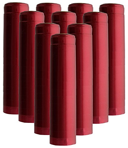 HomebrewSupply EL-5188-4KDR Shrink Capsules 100 Oriental Red PVC Heat Shrink Caps for Wine Bottles Matte Metallic Finish (99 Wine Labels)
