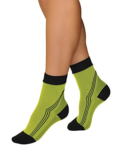 Tonus Activ Elastic medical compression ankle socks, unisex - 18-21 mmHg - 36-39 EU (yellow/black)