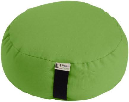 Bean Products Avocado - Round Zafu Meditation Cushion - Yoga - Organic 10oz Cotton - Organic Buckwheat Fill - Made in USA