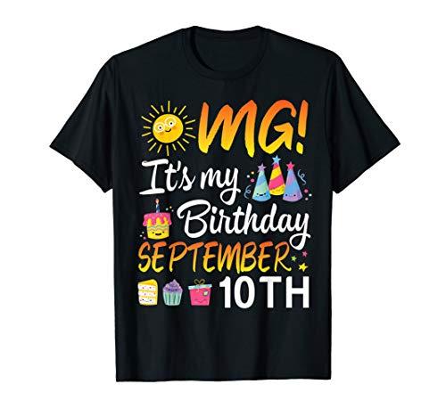 Sunlight Cake Face OMG It's My Birthday September 10th Shirt