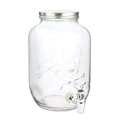 The Mason Jar Factory Ka3185 Drink Fountain, Transparent -