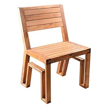 Maku SS09   105 Outdoor Teak Dining Chair Cushion Color: Earth