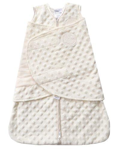 HALO SleepSack Plush Dot Velboa Swaddle, Cream, Newborn, Baby & Kids Zone