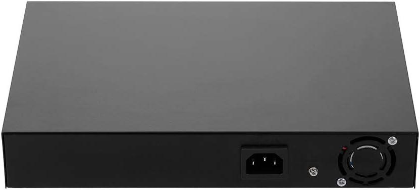 2GE POE Switch with 16 POE Ports 2 Gigabit Uplink IEEE 802.3af Standard POE Switch Power for IP Camera Wireless AP US Plug Cigooxm ZWD-16+2BZQN 16FE