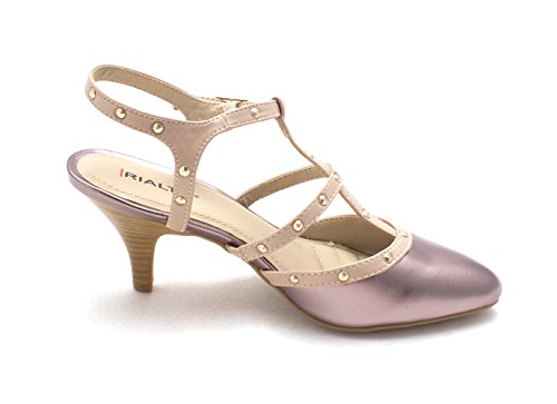 Rialto Womens Mariella Pointed Toe Ankle Strap Classic Pumps Pewter/Smooth mevqItr