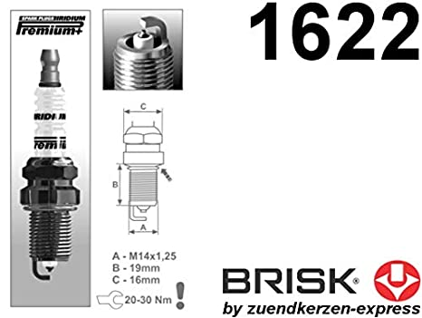 Brisk Iridium Premium Plus P4 1622 Buj/ías de Encendido 6 piezas