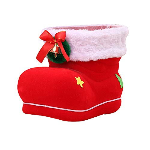 Outdoor Lighted Santa Boots in US - 8