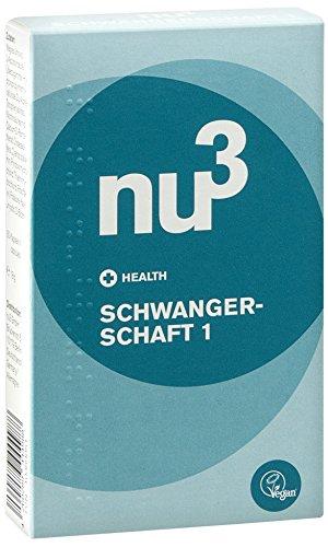 nu3 Schwangerschaft 1 (vegane Kapseln) - 30 Kapseln mit wichtigen Vitaminen und dem Extra an Folsäure für die Phase vor und während der ersten 12 Wochen der Schwangerschaft