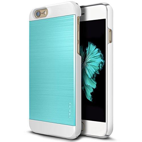 iPhone 6S Plus Case, OBLIQ [Slim Meta II][Aqua Blue/White] Premium Slim Fit Thin Armor All-Around Shock Resistant Polycarbonate Metallic Case for Apple iPhone 6S Plus (2015) & iPhone 6 Plus (2014)