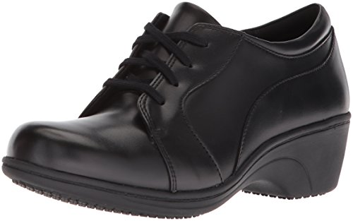 Aravon Women's Hanover Lace Sneaker Black Leather shopping online clearance NhfVl