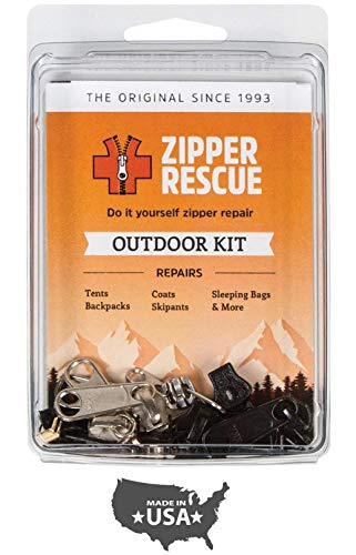 Head Zipper Pull - Zipper Rescue Zipper Repair Kits - The Original Zipper Repair Kit, Made in America Since 1993 (Outdoor)
