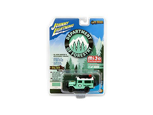 Johnny Lightning Limited Edition - 1980 Toyota Land Cruiser with Accessories Turquoise (Park Ranger) Department of Forestry Limited Edition to 4,800 Pieces Worldwide 1/64 Diecast Model Car by Johnny Lightning JLCP7146
