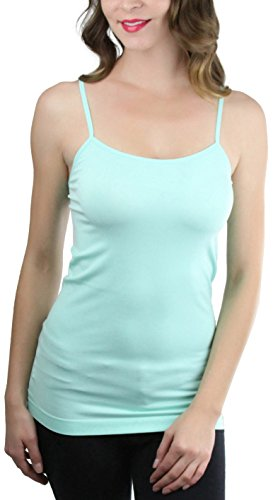 (ToBeInStyle Women's Fitted Spaghetti Strap Camisole - Mint - One Size)