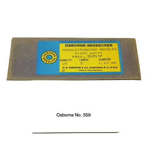 C.S. Osborne Pack of 25 Blunt Point Harness Needle #559-5, 5'' Length by C.S. Osborne