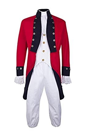Amazon.com: Unisex Adult British Red Coat Revolutionary War ...