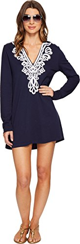 Lilly Pulitzer Women's Shel Beach Cover-Up True Navy Swimsuit Top (Lilly Bathing Suits)