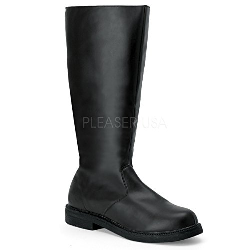 Captain Boots Men'S Size Shoe (Black Pu-Men's Large)(12/13) ()