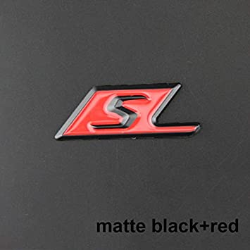 Color Name : Chrome edge long S HHF Stickers Car Styling Trunk Refitting Sticker Glossy Black Red Silver S Badge for A-M-G S-A-M-G E63S C63S GLC63S GLE63S