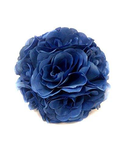 Amazon cyndie wedding flower blue 15 40cm 59 157 silk rose cyndie wedding flower blue 15 40cm 59 157quot silk rose pomander flower kissing ball mightylinksfo