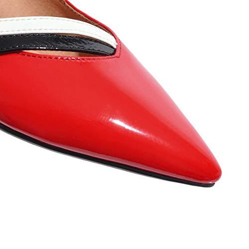 1TO9 Sconosciuto Sandali Zeppa Donna EU 35 Rosso MMS06226 con Red wFqaTxPF