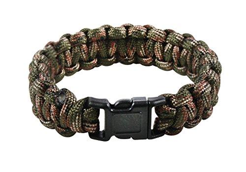 Rothco Paracord Bracelet, Green Camo, 8