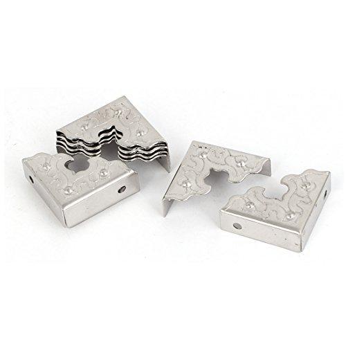 DealMux a16062000ux0518 Corner PROTECTOR Metal Corner PROTECTOR Silver Tone 10Pcs for Box Table