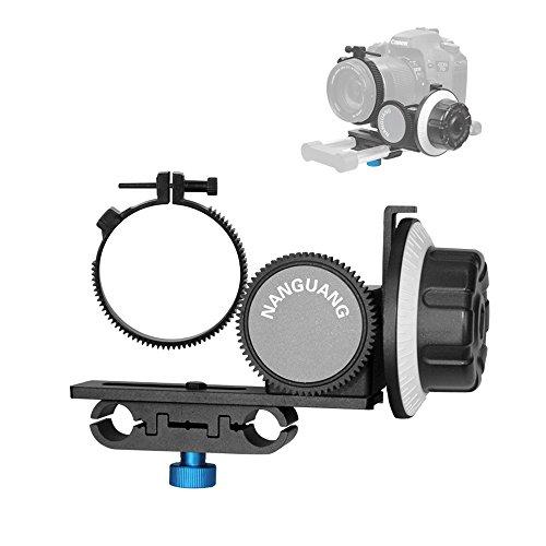 Andoer CN-90F Follow-focus with Gear Ring Belt for Canon Nikon DSLR Cameras