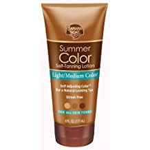 Banana Boat Self-Tanning Lotion, Light/Medium Summer Color for All Skin Tones - 6 Ounce (Pack of 3)
