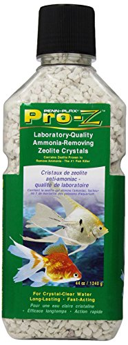- Penn Plax Pro-Z Ammonia-Removing Zeolite Crystals for Aquarium, Medium