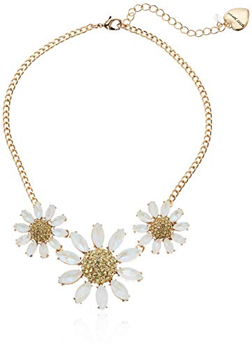 - Betsey Johnson (GBG) Women's Pave Daisy Flower Frontal Necklace, Yellow, One Size