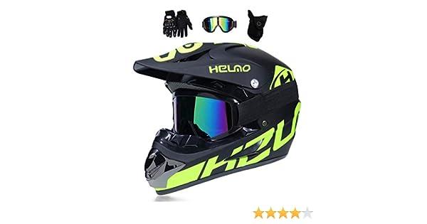 Amazon.es: TKJMCasco de Motocross,Casco Descenso Hombre,Verde ...