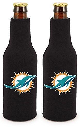 NFL Football 2014 Team Color Logo Bottle Suit Holder Cooler 2-Pack (Miami Dolphins)