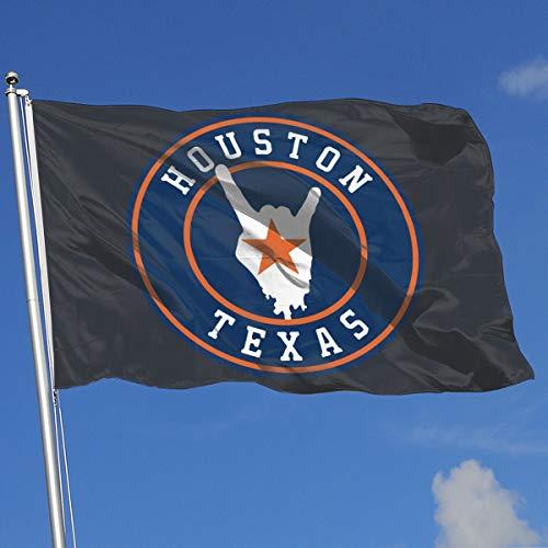 TAOHJS76 Custom Outdoor/Home Decorative Flag Houston Texas 100% Polyester Single Layer Translucent Flags 3 X 5 ()