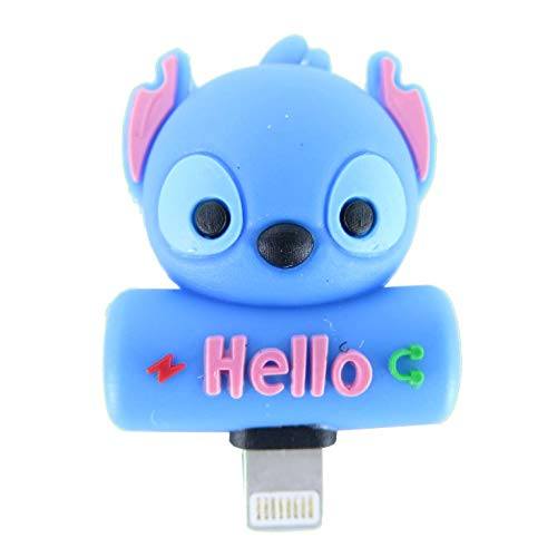 - Cute Cartoon Headphone Jack Adapter for iPhone X XS Max XR 7 8 Plus Splitter, Dual IP Port Aux Audio & Charging & Calling & Sync Cable Connector Earphone Charger Adapter (Alien Dog)
