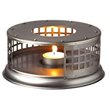 GROSCHE Nairobi Steel Teapot Warmer with Tea Light Candle Included. For Glass Teapots and other Heat-Proof Dish Warming Use.