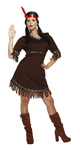 Henbrandt Damen Indianer Squaw Damen Kostum Brown One Size Amazon
