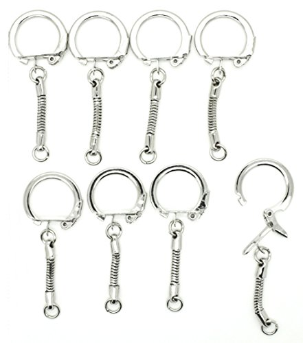 Key Chains Snake Chain with Snap End and Jump Ring for Craft Findings - Pack of ()