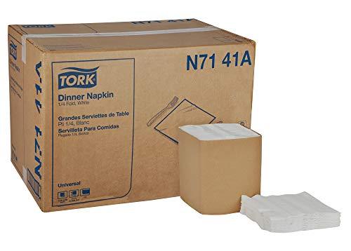 (Tork Universal N7141A Dinner Napkin, 1-Ply, 1/4 Fold, 17