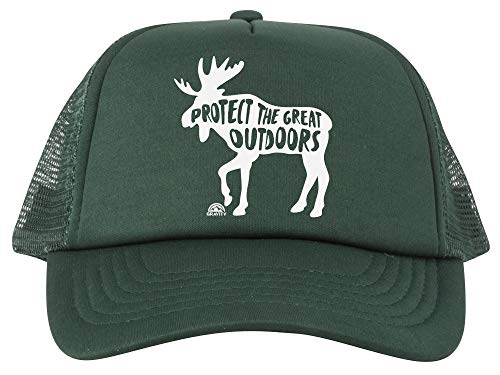 Protect The Great Outdoors Moose Trucker Hat - White - Forest ()