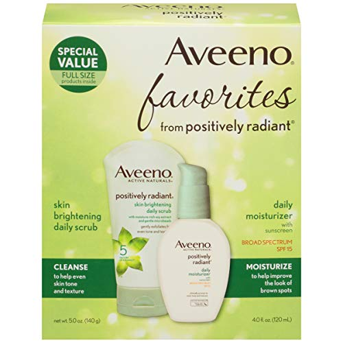 Aveeno Favorites from Positively Radiant Daily Scrub & Moist
