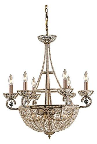 Elizabethan 10 Light Chandelier in Dark Bronze
