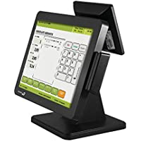 Bematech LE1015MB POS Touch Screen Monitor, True Flat, Bezel Free, Resistive Touch with MSR and 8 Back LCD