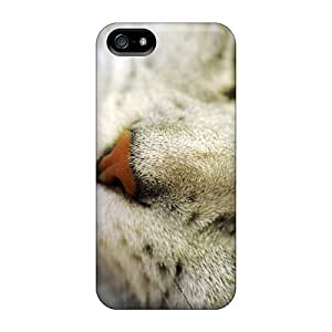 Anti-scratch And Shatterproof Animals Posing Cat Phone Case For Iphone 5/5s/ High Quality Tpu Case