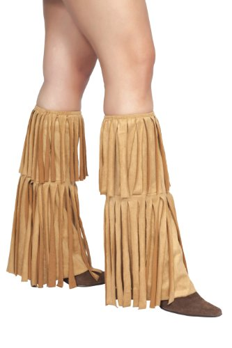 Warm Halloween Costumes For Women (Roma Costume Fringed Leg Warmer Costume, Tan, One Size)