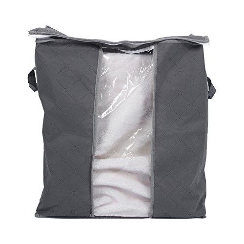 Bolsos organizadores de ropa plegable 67L Bolsas de almacenamiento de carbón de bambú Ventana transparente y cierre de...