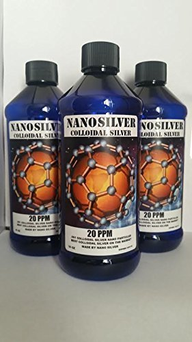 Colloidal Silver Strongest Nano Silver Mineral Supplement 32 oz 20 PPM Colloidal Silver liquid Supplement