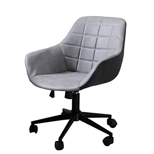 Toonshare stool Grey Desk Chairs with Wheels/Modern Cotton Office Chair Midback Adjustable Home Computer Executive Chair on Wheels 360° Swive - - Mats 35 Inch