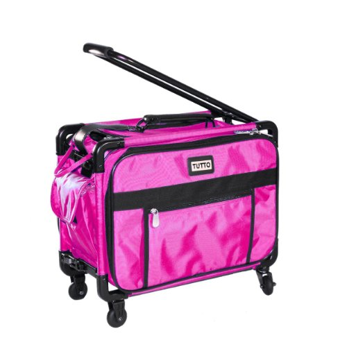 Tutto Small Machine On Wheels 17'' Pink Small Carry-On Size by Tutto
