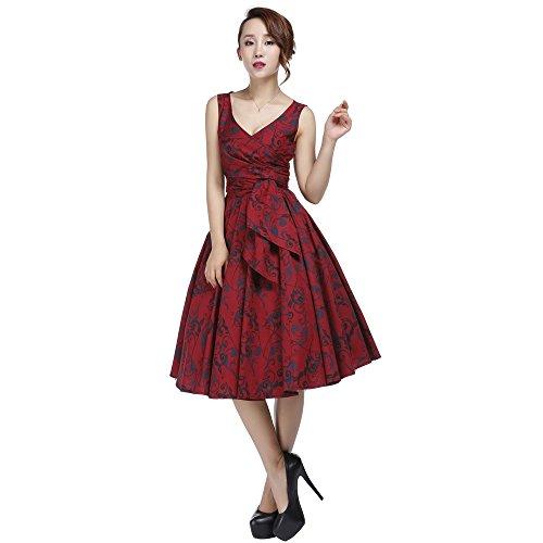 56 58 Chic rotes 42 Größen mit Kleid 38 ärmelloses 50 36 Wrap Print 54 Gothic 60 44 52 Star 46 40 rqw4HtUxr