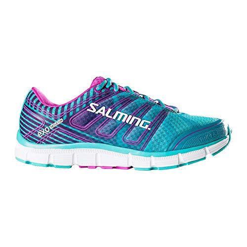 Green Azalea - Salming Women's Miles Hard-Surface Low Top Running Shoes, Ceramic Green/Azalea Pink, 9.5